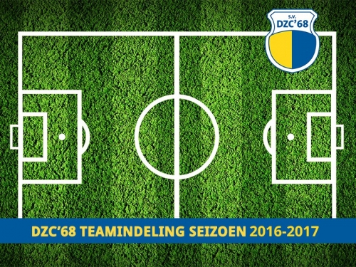 Competitie teams 2016-2017 staan online
