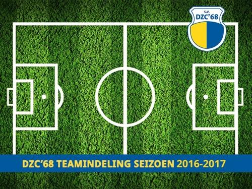 Competitie teams 2016-2017 staan online