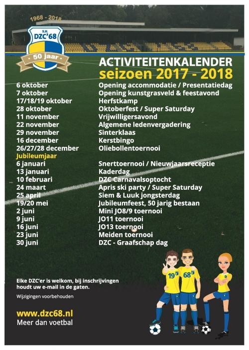 Activiteiten Kalender 2017 - 2018