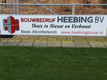 Bouwbedrijf Heebing BV nieuwe bordsponsor DZC'68