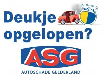 Herstel schade aan je auto bij Autoschade Gelderland en steun DZC'68