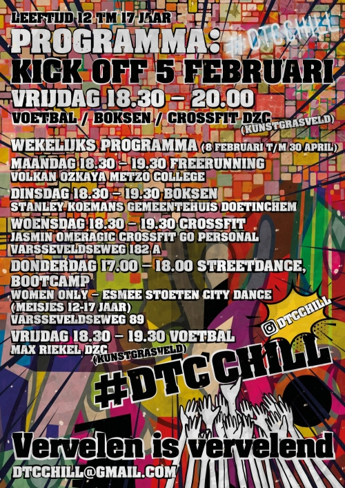 #DTC CHILL voor jongeren tussen de 12 en 17 jaar