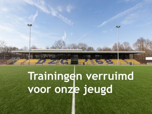 Verruiming trainingen voor de jeugd tot 18 jaar