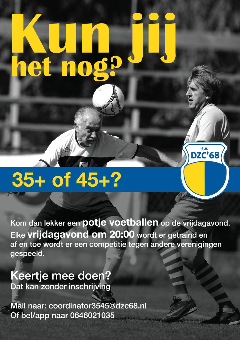 35+ of 45+ voetbal: Kun jij het nog?