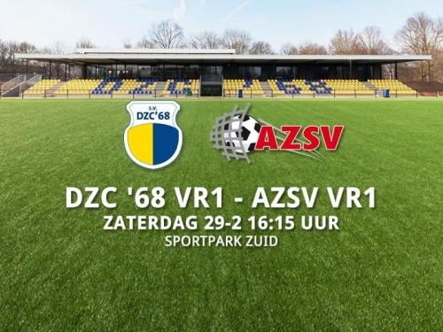 Voorbeschouwing DZC'68 VR1 - AZSV VR1