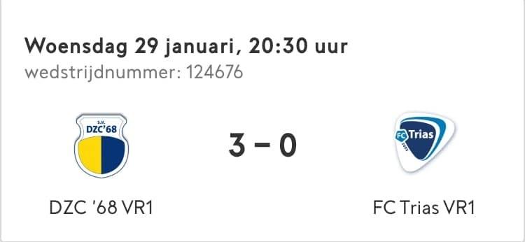 Vrouwen 1 verslaan FC Trias VR1 in de achterhoek cup
