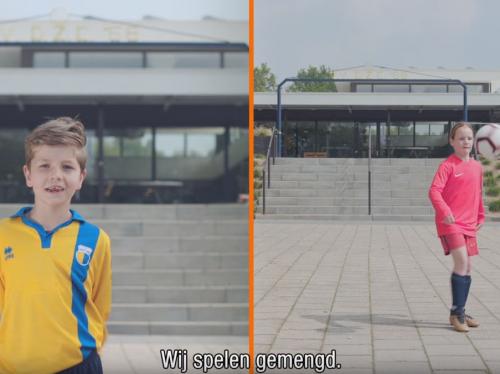 Gemengd voetbal; positief voor zowel jongens als meiden