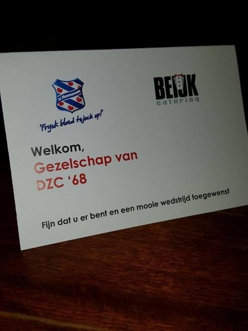 Businessclub DZC'68 naar SC Heerenveen - Willem II