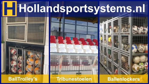 Holland Sport Systems op schermen accomodatie DZC'68