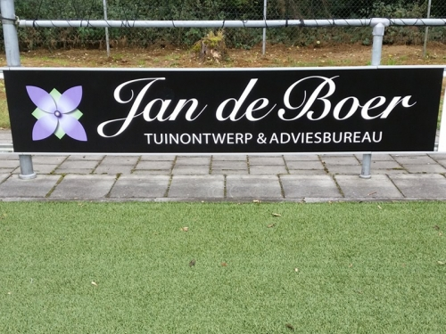 Jan de Boer Tuinontwerp & Adviesbureau bordsponsor DZC'68