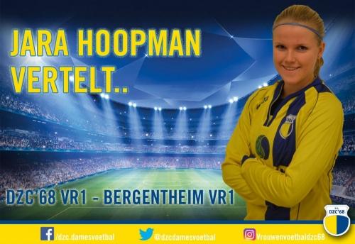 Jara Hoopman vertelt over de wedstrijd DZC'68 VR1 – Bergentheim VR1