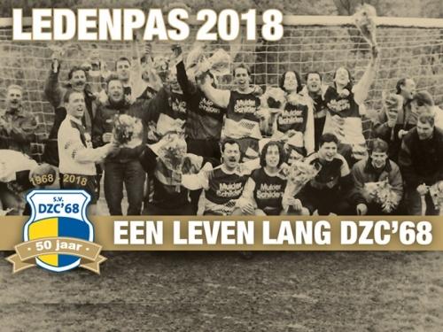 DZC'68 ledenpassen 2018 in postvakken teams!