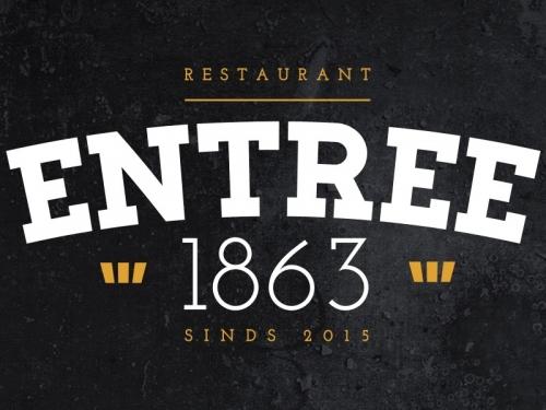 Restaurant Entree 1863 bordsponsor bij DZC'68