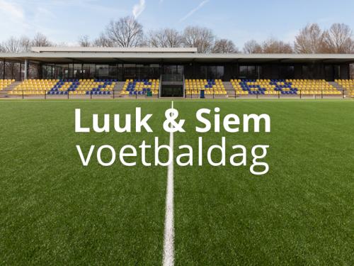 Siem en Luuk voetbaldag