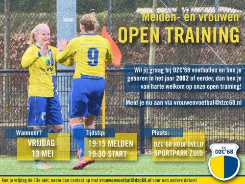 Open training voor meiden en vrouwen!