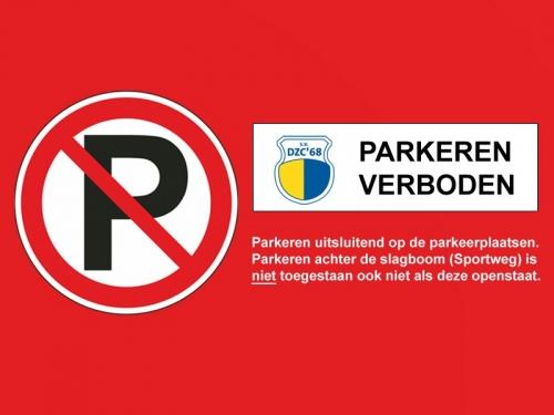 Verboden te parkeren langs de sportweg