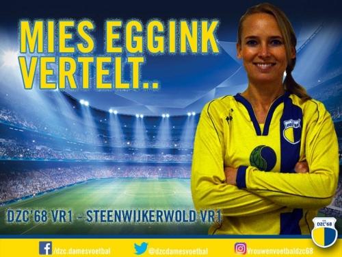 Mies Eggink vertelt over de wedstrijd DZC'68 VR1 – Steenwijkerwold VR1
