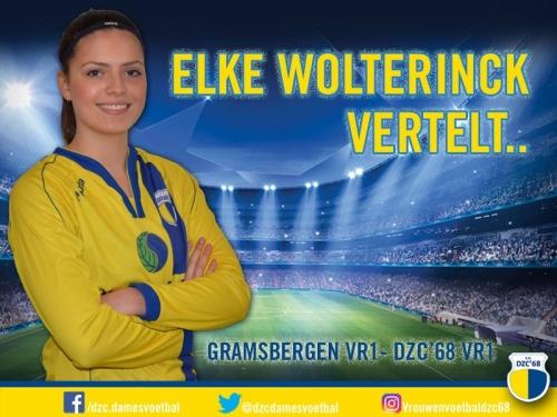 Elke Wolterinck vertelt over de wedstrijd Gramsbergen – DZC'68