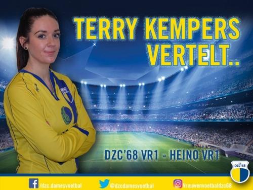 Terry Kempers vertelt over de wedstrijd DZC'68 VR1 – Heino VR1