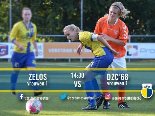 D'ran Vrouwen 1 tegen Zelos VR 1 in Zelhem