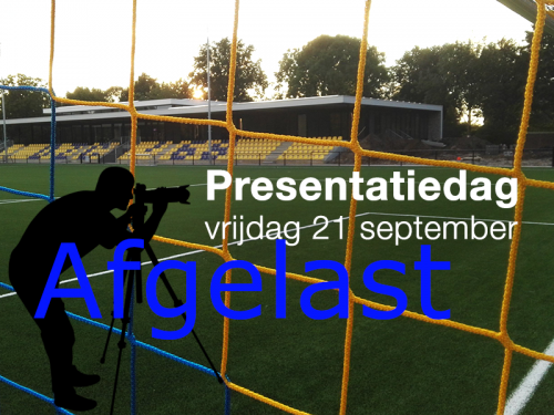21 september Teampresentatie AFGELAST