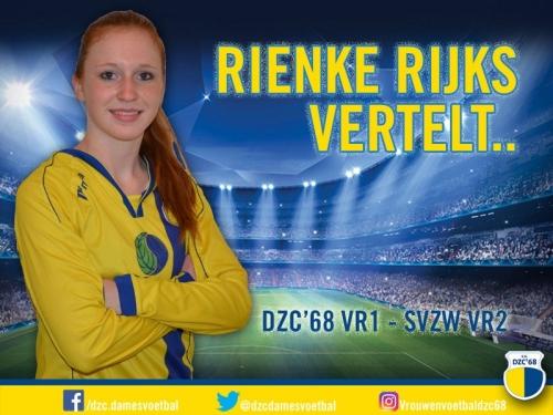 Rienke Rijks vertelt over de wedstrijd DZC'68 VR1 – SVZW VR2