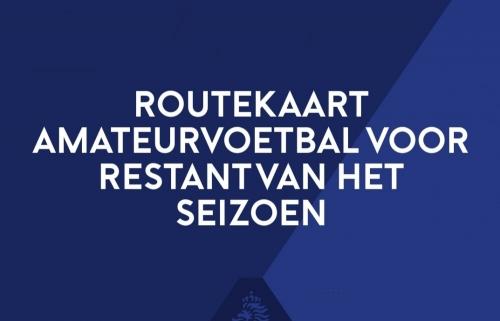 Routekaart amateurvoetbal voor restant van het seizoen