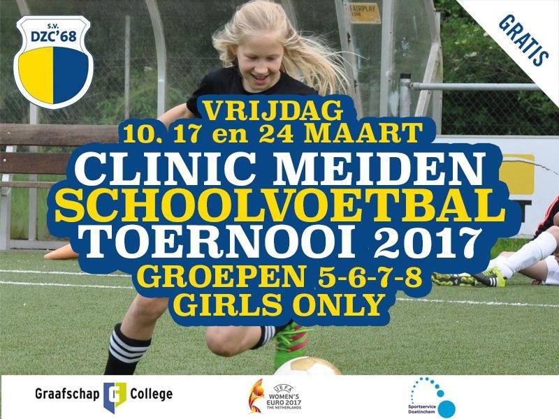 Clinic meiden-schoolvoetbaltoernooi 2017
