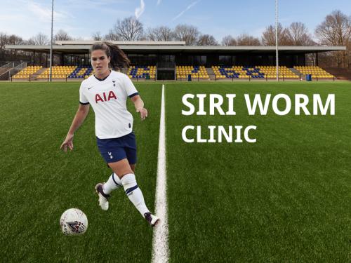 Siri Worm geeft clinic bij DZC'68 voor meisjes en jongens