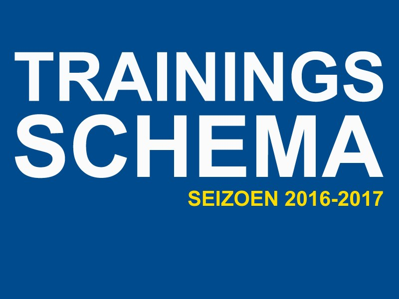 Trainingsschema 2016-2017 staat online
