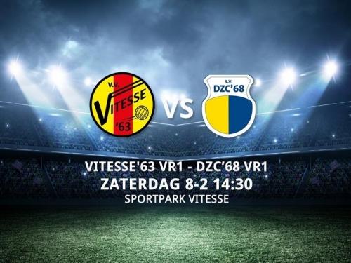 Wedstrijd voorbeschouwing Vitesse'63 VR1 - DZC'68 VR1