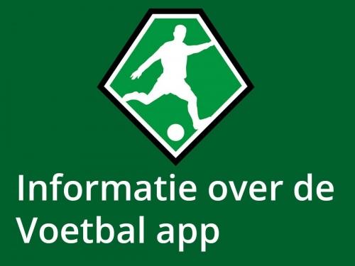 Info over de voetbal.nl app