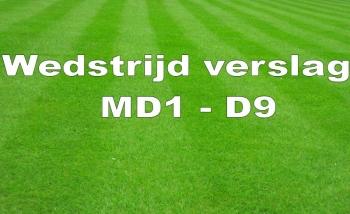 Wedstrijdverslag MD1 - D9