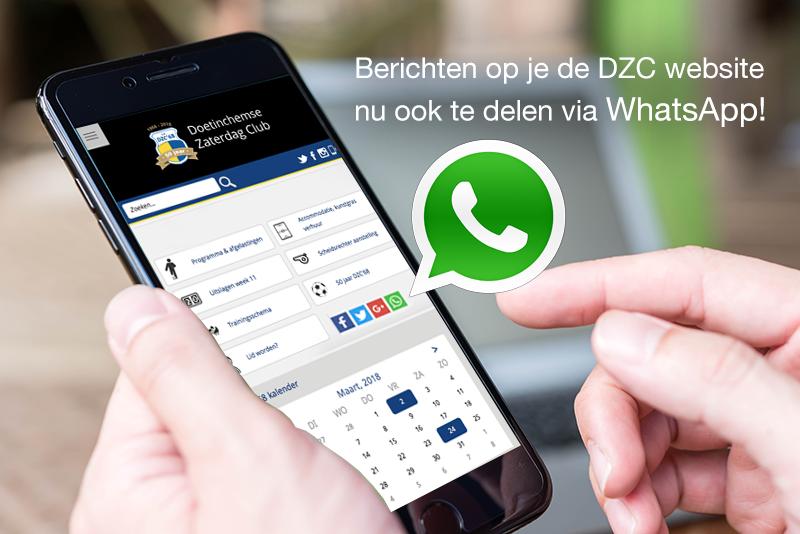 Berichten op website nu ook te delen via Whatsapp